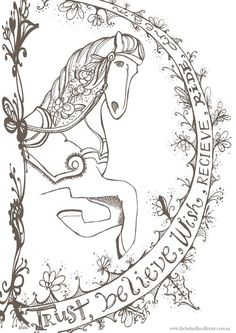 Wish Dream Believe Carousel Horse Free Printable Print Yours Out Here