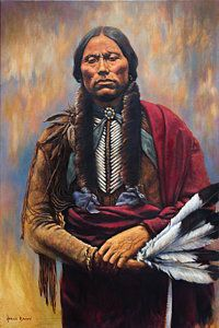 Chief Quanah Print by Harvie Brown