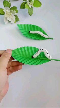 Paper Crafts Origami, Paper Crafts For Kids, Craft Activities For Kids, Preschool Crafts, Diy Crafts For Kids Easy, Fun Diy Crafts, Toddler Crafts, Rope Crafts, Instruções Origami