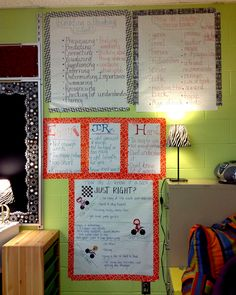just right book anchor charts