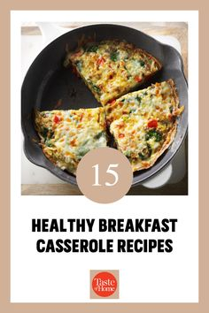 Start your day off right with a healthy breakfast casserole. Here are some tasty ideas. Low Carb Recipes, Healthy Recipes, Healthy Breakfast Casserole, Tasty, Yummy Food, Grubs, Casserole Recipes, Healthy Eating, Ideas