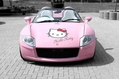 Hello Kitty Car - Yes Roadster by on DeviantArt Sanrio Hello Kitty, Hello Kitty Haus, Hello Kitty Items, My Dream Car, Dream Cars, Dango Peluche, Barbie, Hello Kitty Collection, Truck Accessories