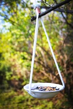 Adorable bird feeders! I will be attempting these at the Granary Art Center on July 31st with a bunch of kids.