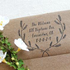 Custom Return Address Stamp. $55.00, via Etsy.
