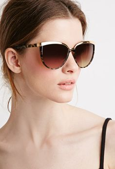 Forever 21 is the authority on fashion & the go-to retailer for the latest trends, styles & the hottest deals. Ray Ban Sunglasses Outlet, Stylish Sunglasses, Gold Sunglasses, Sunnies, Sunglasses Women, Fashion Eye Glasses, Cat Eye Glasses, Forever 21, Classic Style Women