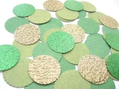 Confetti Celebration packet of 1 paper circles by VanCocoaDesigns