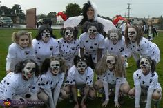 Cyndi: Ceres Earthquakes U19 Girls Soccer Team. We won the Fort Bragg Spookfest Costume Contest (and the tournament) 2010 as 101 Dalmations, complete with Cruella DeVil. White uniforms, spotted, white/spotted painted...