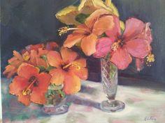 Hibiscus Oil painting