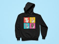 Animal Crappers Unisex Heavy Blend Hooded Sweatshirt, Funny Animal Hoodie, Andy Warhol Hoodie, Animal Lover Hooded Sweatshirt, Animal Gift by FunTeazz on Etsy Andy Warhol, Pet Gifts, Put On, Cool T Shirts, Hooded Sweatshirts, Funny Animals, Hoods, Unisex, Trending Outfits