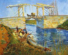 ゴッホの《アルルの跳ね橋》