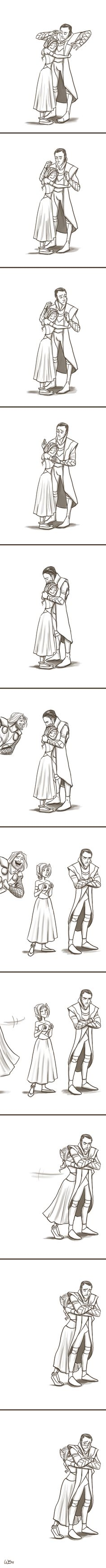 TOO adorable. I want Sigyn to appear in Thor 2. Please...