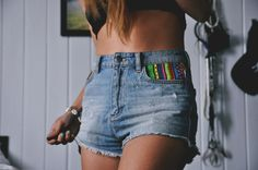 DIY AZTEC SHORT WITH JUST A PIECE OF PRINTED FABRIC # FABULOUS