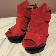 Very sexy red stilettos! BRAND NEW Jessica Simpson red  suede high heels! Jessica Simpson Shoes Heels