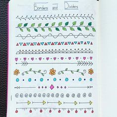 Jan 2019 - Doodles and organization ideas for bullet journals. See more ideas about Journal, Bullet journal and Bullet journal inspiration. Bullet Journal Inspo, Journal D'inspiration, Bullet Journals, Borders Bullet Journal, Bullet Journal Dividers, Bullet Journal First Page, Bullet Journal Writing, How To Journal, Bullet Journal Ideas Handwriting