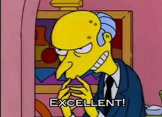 Trending GIF tv the simpsons cartoon good evil fingers excellent mr burns bueno monty burns plotting buona finger wiggle Gym Memes, Gym Humor, Workout Humor, Dental Humor, Simpsons Cartoon, Simpsons Quotes, The Villain, Jokes, Movies