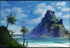 Mountains of Leisure Bay by gizmodus on DeviantArt
