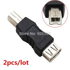>> Click to Buy << 2pcs USB to USB B Male Connector Cable Adapter Computer Printer Scanner USB B Adapter Converter USB Female Plug Socket HY568*2 #Affiliate