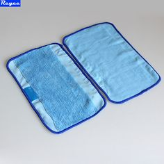 3Pcs / Lot Blue Washable Reusable Microfiber Mopping Cloths for iRobot Braava 380t 320 Mint 5200c 4200 Robotic Home Essential