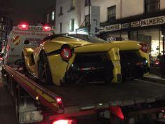 London Witnesses Rare Ferrari LaFerrari Crash