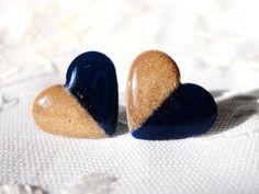 Notre Dame Heart Studs by ModIceCream on Etsy, $10.00