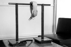 model of the Boger Swing used at the 1963 Auschwitz trial in Frankfurt, in which its inventor, WIlhelm Boger was tried and received life imprisonment.  He died in prison at the age of 70 on 04/03/1977.