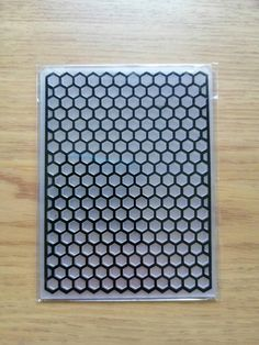 Embossing Folder, Honeycomb, Things To Think About, Card Making, My Etsy Shop, Scrapbooking, Carving, Mini, Check
