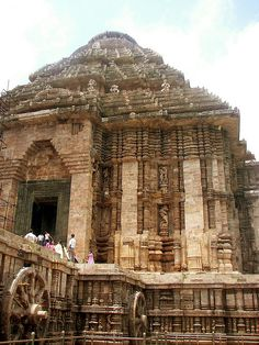 Konark Sun Temple is a 13th century Sun Temple (also known as the Black Pagoda)[1], at Konark, in Orissa. It was constructed from oxidized and weathered ferruginous sandstone by King Narasimhadeva I (1238-1250 CE) of the Eastern Ganga Dynasty. The temple is an example of Orissan architecture of Ganga dynasty . The temple is one of the most renowned temples in India and is a World Heritage Site