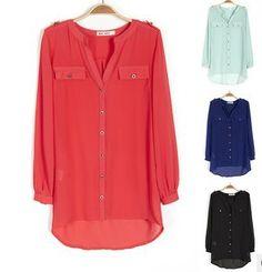 Plus Size New In 2014 Spring Summer Fashion Chiffon Blouse For Women, big size chiffon shirt ladies blouses L-XXXL $13.99