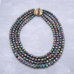 Hey, I found this really awesome Etsy listing at https://www.etsy.com/listing/231410909/vintage-wide-necklace-glass-beads
