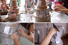 making pinata as part of Bday party