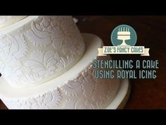 ▶ How to stencil on a cake using royal icing stencilling on a cake stenciling cake decorating tutorial - YouTube