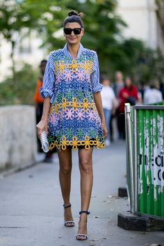 Giovanna Battaglia at Paris Fashion Week	 Image Source: IMAXTREE / VincenzoGrillo