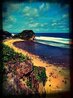 Indrayanti Beach, Yogyakarta, Indonesia