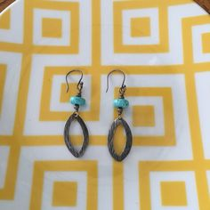 Silpada .925 silver and turquoise earrings Gorgeous Silpada earrings in .925 Sterling silver and turquoise. Great organic shape to these lovely earrings. Silpada Jewelry Earrings