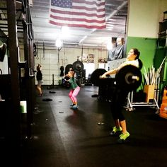 """No sleeping in Saturday morning. 7:00am swoll sesh. #outlaws #outlawway #hangsnatch #crossfit #coordination #crossfitgirls #speed #squat #setgoals #strength #hgx #health #wod #workout #swoll @nicnelsen"" Photo taken by @hgxfit on Instagram, pinned via the InstaPin iOS App! http://www.instapinapp.com (01/17/2015)"