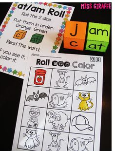 Amazing short vowels word families games where students roll the dice to build…