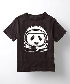 Black Astronaut Panda Tee - Toddler & Kids | zulily