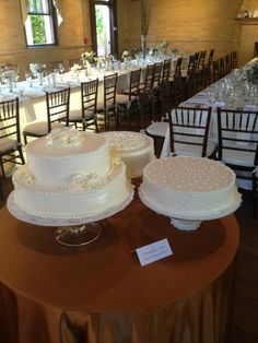 A trio of wedding cakes - lovely!
