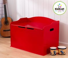 Austin Toy Box - Red