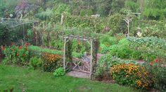 Lee Reich's garden in midsummer.