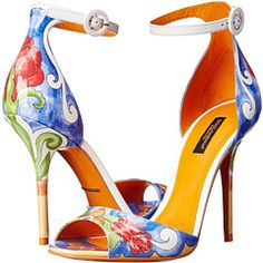 These Dolce & Gabbana sandals are a piece of art for your feet! #DolceandGabbana #ZapposCouture