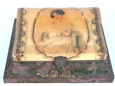 Victorian Sewing Baskets and Boxes | VICTORIAN CELLULOID SEWING BOX