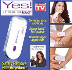 Yes! Finishing Touch Hair Remover AS SEEN ON TV BRAND NEW IN PINK! #IdeaVillage