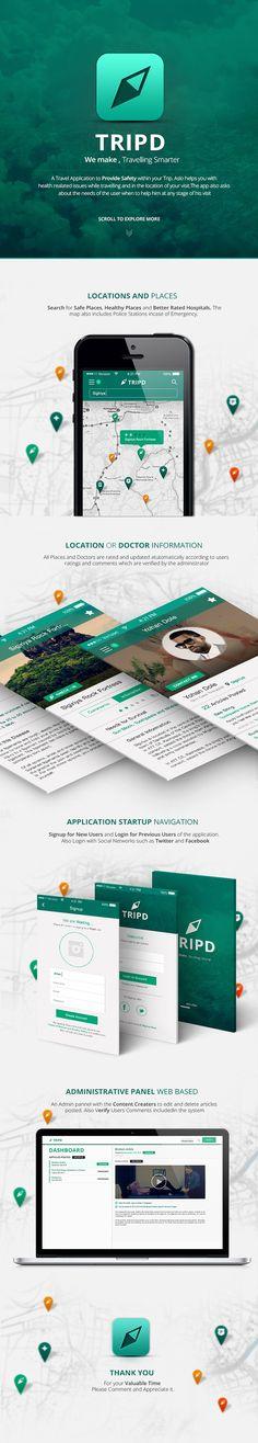 Unique App Design, Tripd #App #Design (http://www.pinterest.com/aldenchong/)