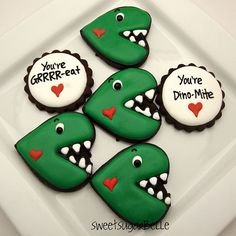 Heart cookie cutter turned dinosaur- how cute!
