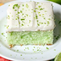 Lime-Coconut Bars Recipe: These bars taste just like vacation, with flavors like lemon, lime and coconut. Pour the refreshing topping over the sugar cookie to create a palate-pleasing dessert. Click through for the easy and healthy recipe.