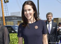 Pin for Later: Princess Mary Gives Her Little Navy Dress a Stylish Spring Update