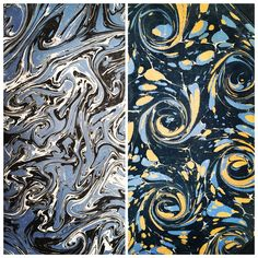 The marbled end papers and cover of an 1896 Danish book.  www.bookdecor.com