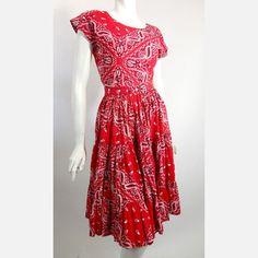 50s Bandana Print Dress Set 2pc now featured on Fab.
