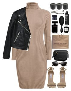 A fashion look from June 2016 featuring slip on dress, moto jacket and ankle strap sandals. Kpop Fashion Outfits, Dope Outfits, Simple Outfits, Stylish Outfits, Womens Fashion, Polyvore Outfits, Polyvore Fashion, Professional Wear, Weekly Outfits